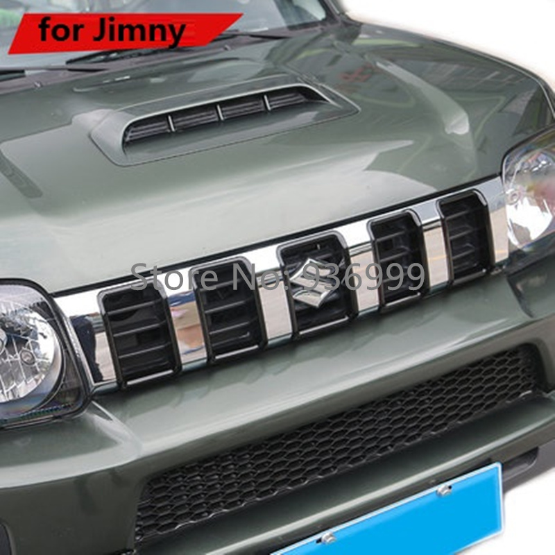 5 Pcs/Lot ABS Car Styling Grille Decoration Cover Sticker Suitable for Suzuki Jimny 2012-2016 Car Accessories stickers for suzuki jimny car styling jimny sticker auto accessories reflective waterproof vinyl car decals car accessories 1pc