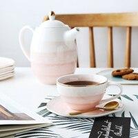 MUZITY Keramik Tee Tasse Untertasse Kreative Design Porzellan Kaffee Tasse Und Untertasse Tee Tasse Set mit Edelstahl 304 Löffel-in Tassen & Untertassen aus Heim und Garten bei