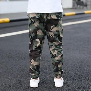 Image 3 - Hot boys summer trousers 4 15 years old Multi pocket camouflage cargo pants Leg fashion versatile boys gift cool