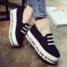 Harajuku Canvas Loafers Women 2015 Casual  Ladies Flats Platform Shoes Female Creeper Footwear Zapatos Mujer Sapato Feminino