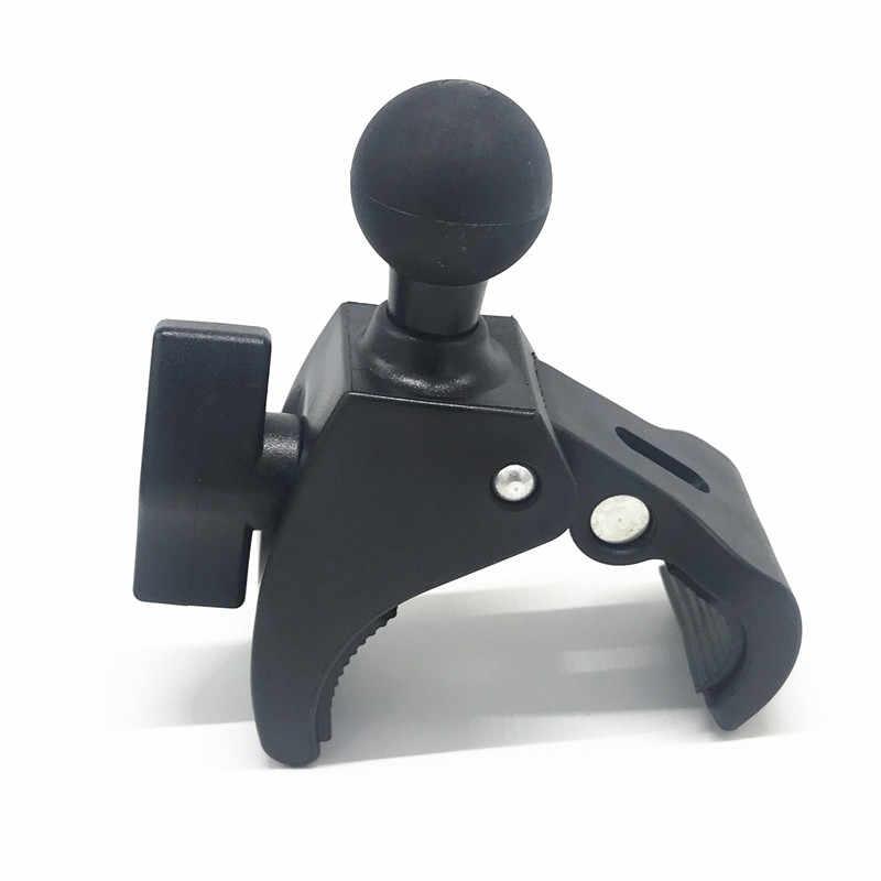 Коготь зажим на руль мотоцикла или велосипеда рейку База с 1 дюймов резиновый мяч двойная розетка для Gopro крепления RAM SLR