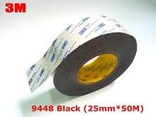 1x 25 мм * 50 М 3 М 9448 Черный Двусторонняя Лента для LED LCD/Сенсорный Экран/дисплей/Pannel/Корпус/Корпус Клей Черный