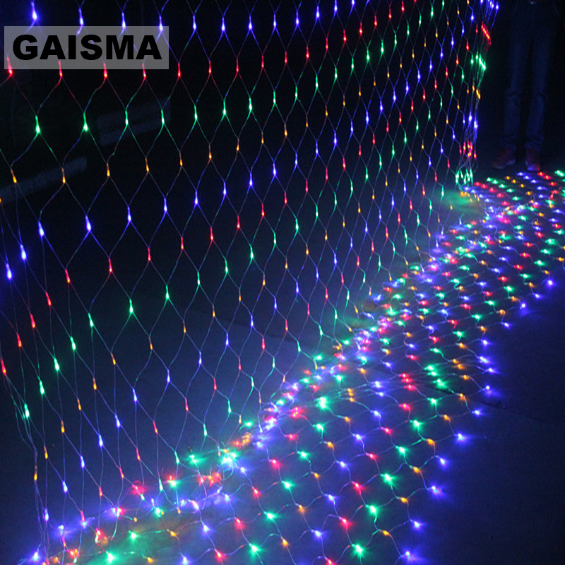 10M X 8M LED Mesh String Net Lights Christmas Garland Garden Decoration Wedding Fairy Lights Holiday Party Outdoor Lighting
