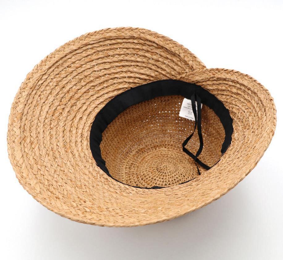 b47c96f0236 Sun Hat Hand Made Light Female Sea Boater Chic Style Embroidery100% Nature  Madagascar Raffia Straw Sun Hat Women Luxury Sun Hats-in Sun Hats from  Apparel ...