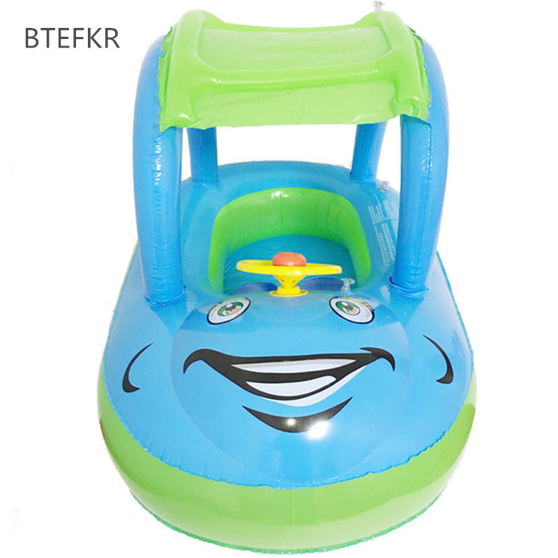 2018 New Hot Summer Bathing Newborns Float Boat Tube Car For Baby Swim Float Portable Inflatable Swimming Circle For Kids