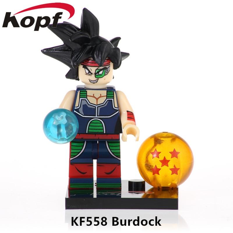 Один Продажа Dragon Ball Z фигурки героев лопуха Gotenks Золотой Фрезер строительные блоки кирпичи образование подарок игрушка детская KF558