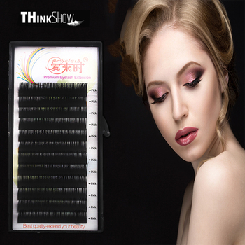 Thinkshow Individual Lash 100% Handmade 3D Volume Eyelash Extension Natural Long Korea Silk Mink Individual False Eye lashes