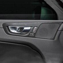 For Volvo XC60 2018 2019 ABS Carbon fibre/Matte Car inner door protector handle Bowl panel Cover Trim car accessories 4pcs стоимость