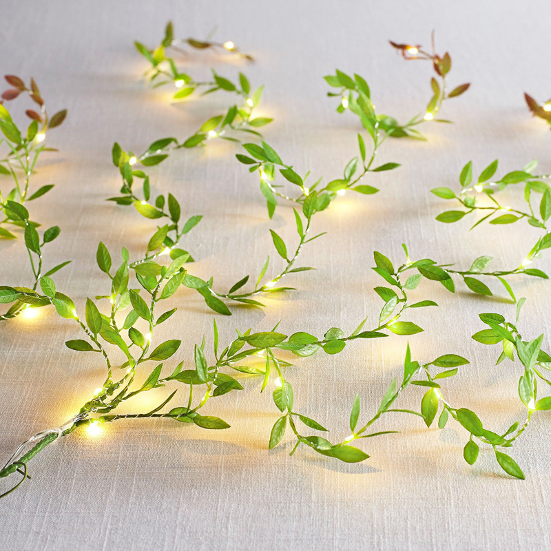 40m lot Silk Leaf Shaped Handmake Artificial Green Leaves for Wedding Decoration DIY Wreath Gift Scrapbooking Craft Fake Flower in Party DIY Decorations from Home Garden