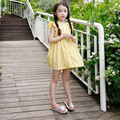 Children Summer Dress Yellow Costume Blue Kids Clothes Girls Cotton Frock Design Teenage Girls Clothing Fancy Infant Girl Dress
