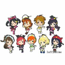 LoveLive! School idol project Rubber pendant Honoka Kousaka anime Action Toy Figures Mobile Phone Accessories strap Keychain japanese anime figures love live figurine school idol project kousaka honoka figma pvc action brinquedos figure model doll toys
