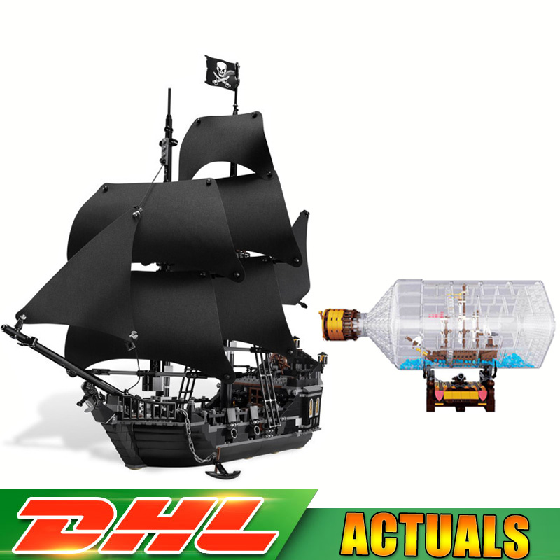 LEPIN 16006 Pirates of The Caribbean The Black Pearl Ship 16045 Pirates of The Caribbean Ship In Bottle Model Compatible 4184 pirates of the caribbean at world s end level 3 cd