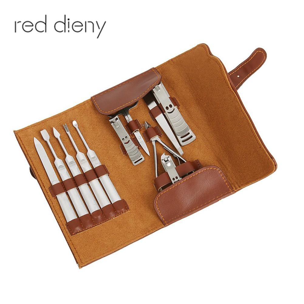 11PCS Manicure Set Professional Repair Nail Group Clipper Stainless Steel Pedicure Beauty Travel Manicure Sets For Woman&Man