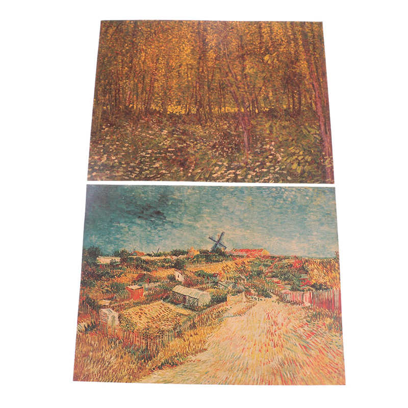 Van Gogh Oil Painting Works Sunflower Apricot Abstract Canvas Art Print Poster Picture Wall House Decoration Murals