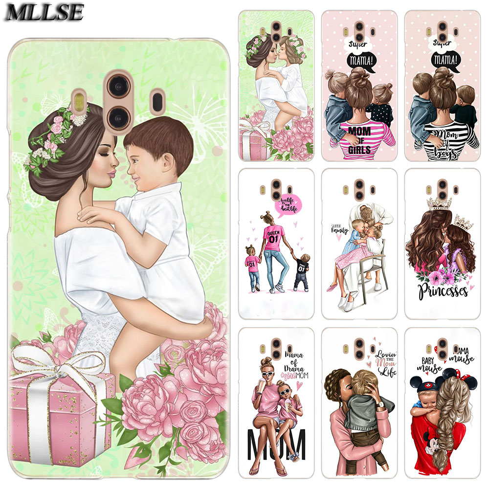 MLLSE Baby Mom <font><b>Girl</b></font> Boy Fashion <font><b>Case</b></font> Cover for <font><b>Huawei</b></font> Mate S 10 20 Lite Pro Y3II Y5II Y6II Y5 Y6 2017 <font><b>Y7</b></font> Prime 2018 Y9 <font><b>2019</b></font> Hot image