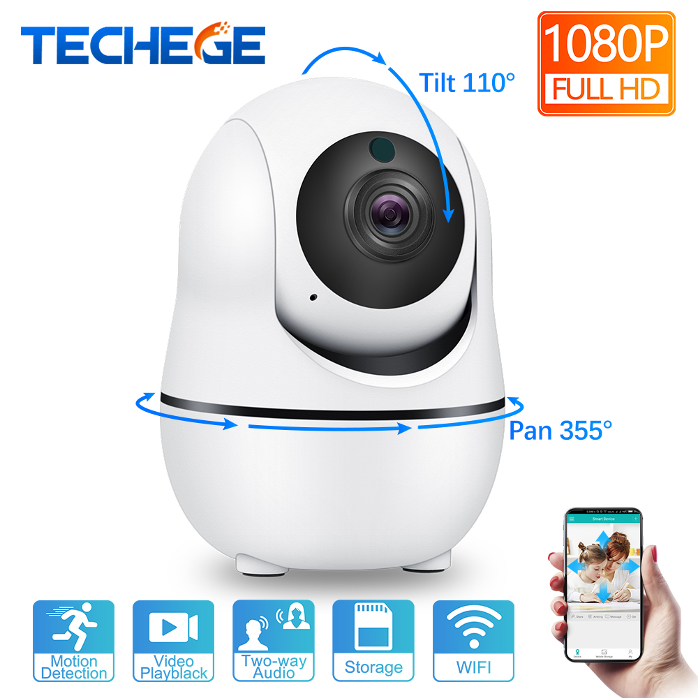 Techege 1080 P Smart Wireless IP Kamera Audio Wifi Sicherheit CCTV Kamera Home Alarm 2.0MP Überwachung Kamera Indoor Camara