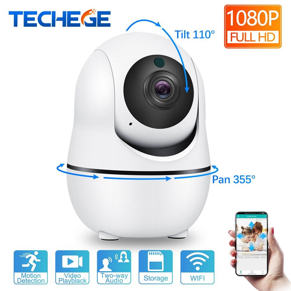 Techege 1080 P inteligente Cámara IP inalámbrica de Audio Wifi cámara CCTV de seguridad de alarma de Casa 2.0MP cámara de vigilancia interior Camara