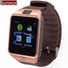 Reloj inteligente DZ09 Reloj de Sincronización de Notifier Tarjeta Sim Soporte de Conectividad Bluetooth para Android Teléfono Smartwatch llamada Cámara del teléfono