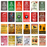 Vintage Metal Tin sign Keep Calm Wifi Toilet Bar Beer Art Posters Home Decor Restaurant Coffee Cafe Wall Plaques
