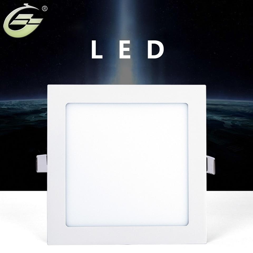 18W Modern White LED Panel Lights LED Driver Ultrathin Panel Lamp Round Square Shape 50/60HZ 3000-3500K 6000-6500K LED Lighting ...