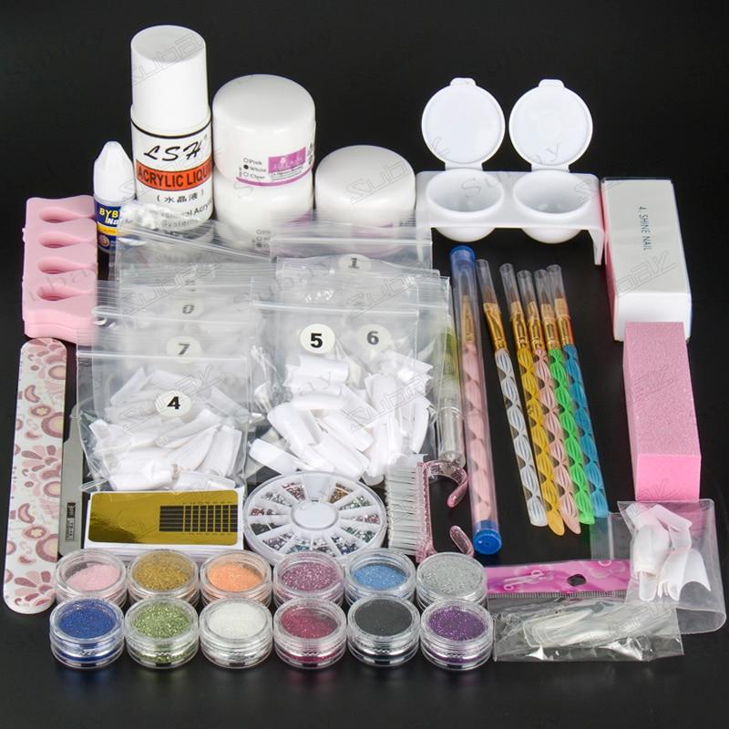Luxuries Acrylic Nail Art Kit Gel Powder Liquid Nail Form