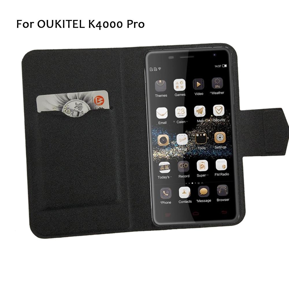5 barev Hot! OUKITEL K4000 Pro Pouzdro na telefon Kožené pouzdro 2017 Factory Direct Nová Móda Luxusní Full Flip Stand Pouzdra na telefon
