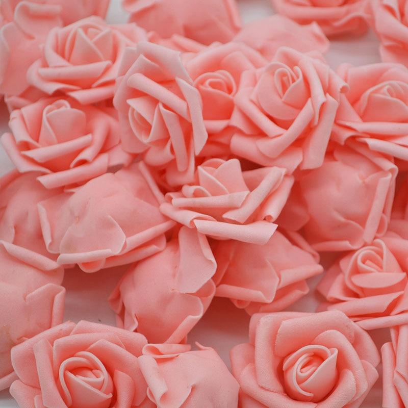 Barato 20 pcs Multicolor Foam Rosa Flor Cabeça Artificial Rose Bouquet Handmade Casamento Casa Decoração Do Partido Festivo recados
