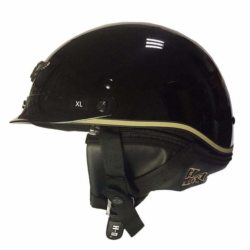 (1pc&2colors) DOT Approval HL201 New Harley Motorcycle Half Helmet Spoiler Hybrid Vintage Motor Cycle Helmets Casco Casque