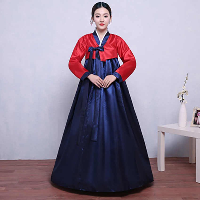 2019 Новинка в Корейском стиле платье для Для женщин, элегантное, в ретро стиле, одежда для вечеринки с v-образным вырезом в Корейском стиле «ханбок» в традиционной церемонии одежда для представлений