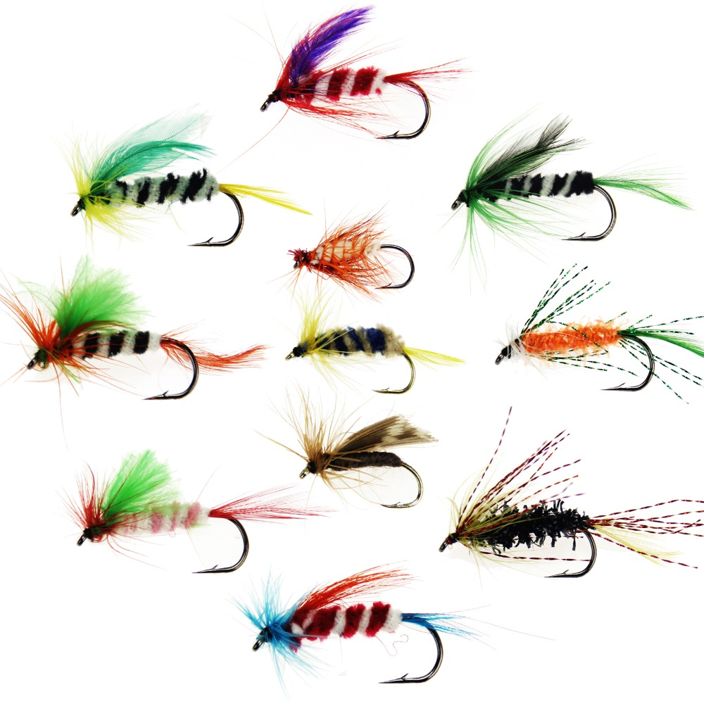 fly fishing flies trout fly assortment artificial bait with hook
