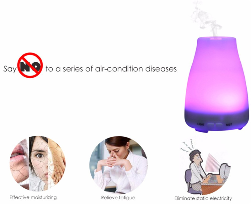 ФОТО HTSS01-7,Ultrasonic Humidifier LED Light 7 Color Change,Dry Protect,Ultrasonic Essential,Oil Aroma Diffuser,Air Humidifier Maker