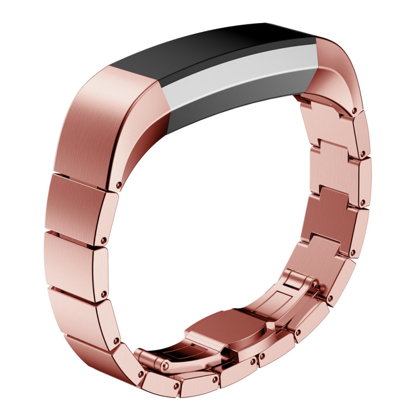 Excellent Quality Stainless Steel WatchBands Gold &Gold Rose Wrist Watches Strap For Fitbit Alta Smart Watch Reloj New Splendid