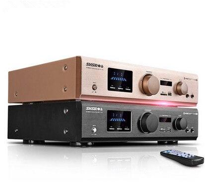 AV-388 / AV-288 600W 5.1 channel Bluetooth home theater karaoke audio amplifier fiber coaxial Bluetooth USB / SD APE lossless