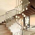 Lámpara led espiral de burbujas de cristal de luz moderna de deco, lámpara de ducha de meteoritos, lámpara de araña de cristal para techos altos de escalera