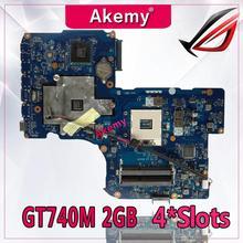 Akemy GT740M 2 Гб 4 * слотов для карт K95VB материнская плата QCL90 LA-8223P REV: 1,0 для R900V A95V K95V K95VJ K95VM ноутбук материнская плата