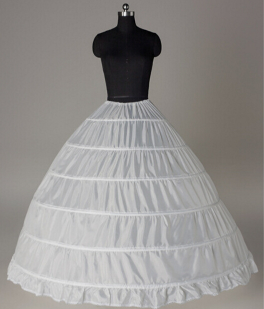 White Petticoats Wholesale 6 Rings Luxury Bridal Petticoat For Wedding Dress Ball Gown Underskirt Lining Accessories