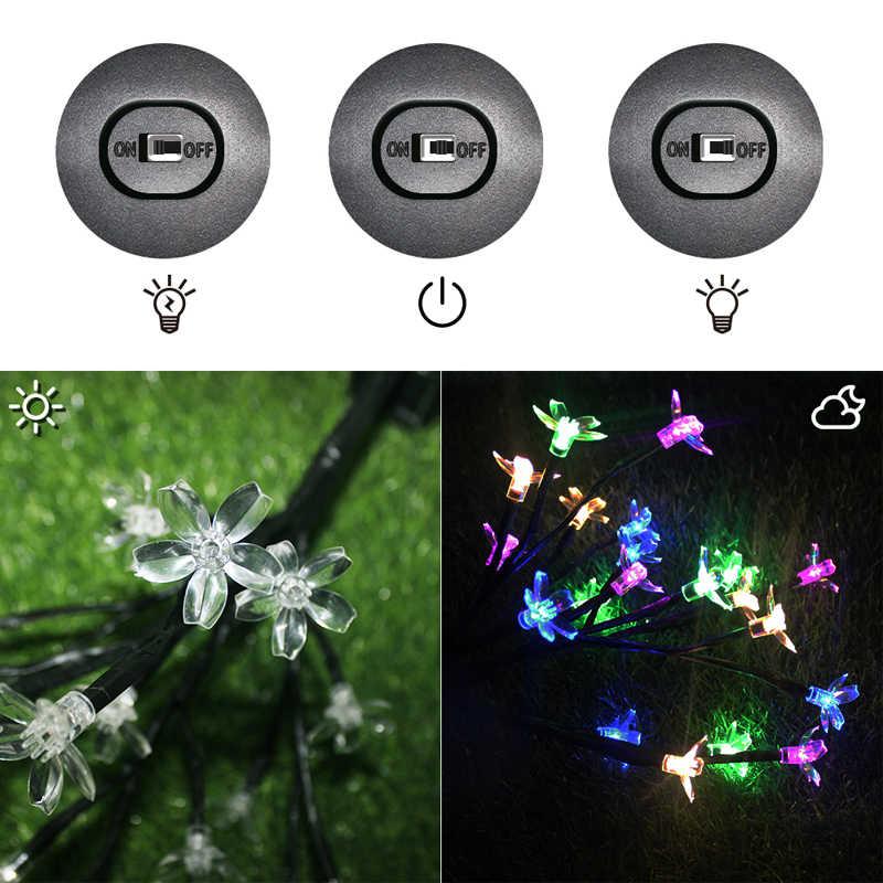 Светодиодный солнечный Мощность дерево свет открытый лужайке сада пейзаж лампы 20 светодиодный s солнечный светильник патио Рождественская елка забор Свадебные украшения
