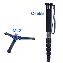 Manbily Портативный Профессиональные алюминиевые углеродного волокна 5 раздел Камера монопод DSLR монопод для Canon Nikon Sony DV с M-2