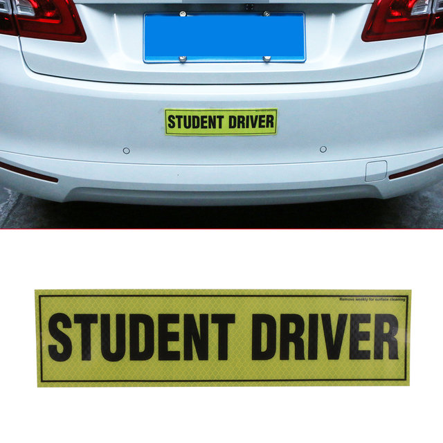 PC Removable Magnetic Student Driver Reflective Vinyl Decal Funny - Vinyl decal car signs