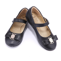 New Spring Autumn Cute Girls Shoes Comfortable Leather Flat For Children Shoes Catwalk Shoes Princess Kids