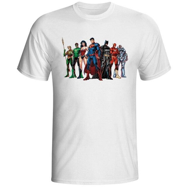 Justice League T Shirt Batman Wonder Aqa Man Flash Green Lantern ...