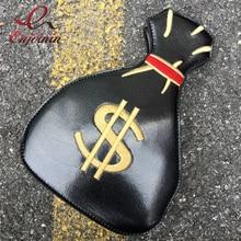Persönlichkeit neue design interessant stickerei geldbörse form damen schulter tasche kette handtasche flap crossbody messenger tasche