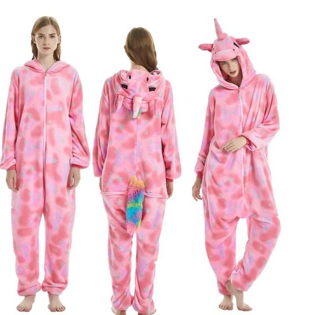 cf1c7beb71 Polar de lana de los animales adultos unicornio púrpura Onesie Cosplay  disfraz pijama ropa de dormir