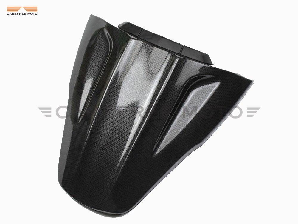 Carbonio Moto COPRISELLA PASSEGGERO COWL CARENA Moto Seat Cover per KAWASAKI NINJA ZX10R ZX 10R 2011-2015