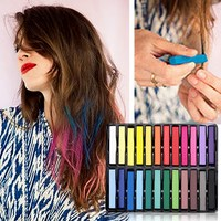 Free Shipping Beauty 24 Pcs Convenient Temporary Super Hair Dye Colorful Chalk GUB