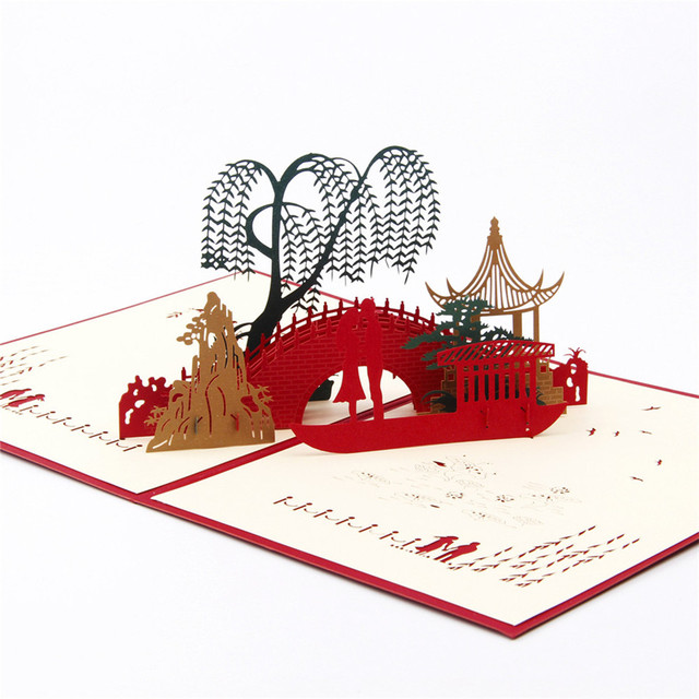 Valentines Day Gift For Men & Women Handmade 3D POP Up Greeting Card