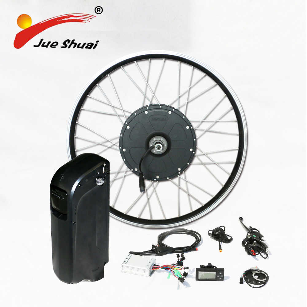 "26"" 700C front rear motor wheel 48v kettle lithium ion battery electric bike kit 1000w powerful electric motors for bikes kits"
