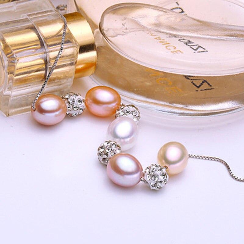ASHIQI 925 plata esterlina Colgante Real Multi Arroz collar de perlas - Joyas - foto 2