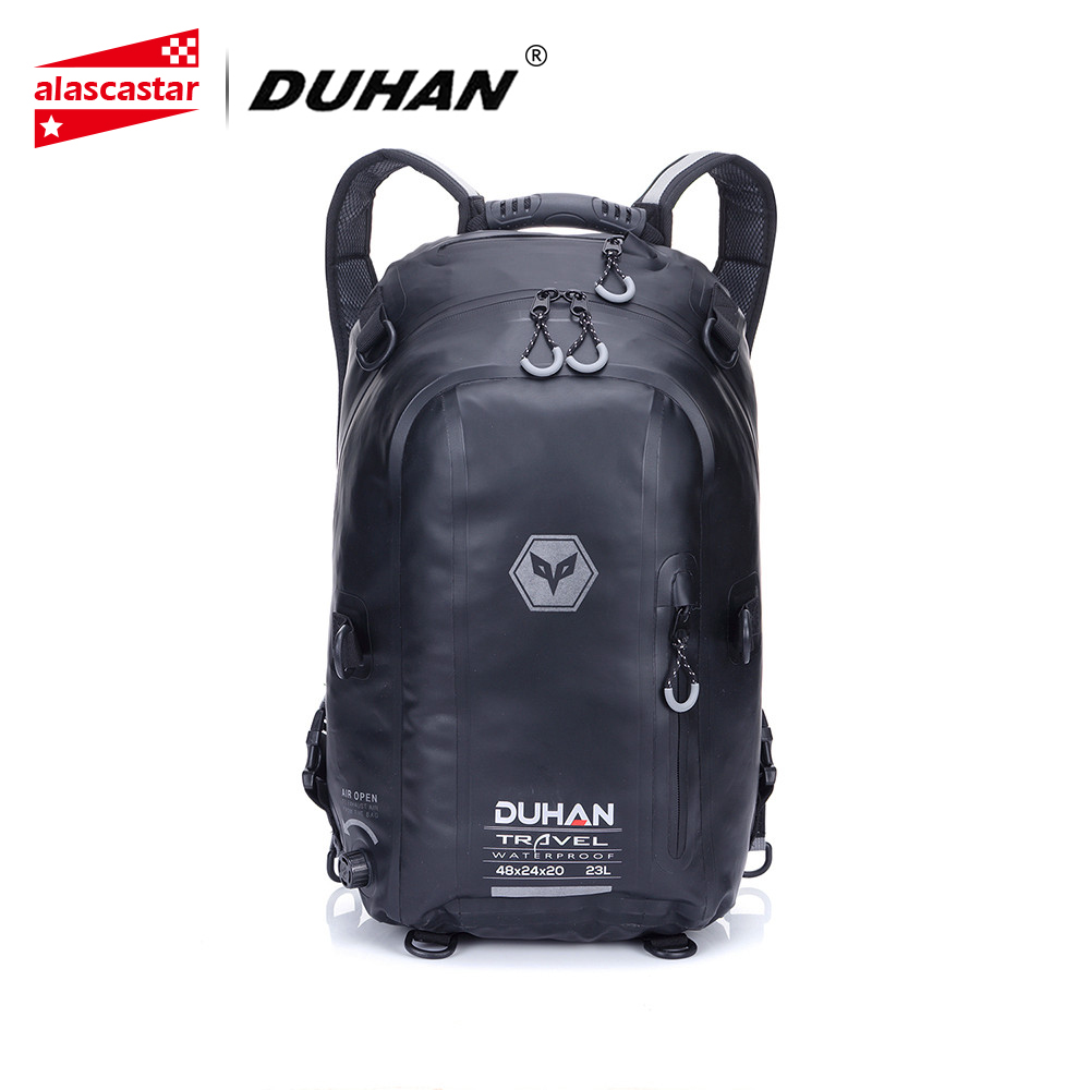DUHAN Motorcycle Bag Black Waterproof Motobike Backpack Motorcycle Helmet Backpack Luggage Moto Tank Bag Motorcycle Racing motorcycle expandable magnet and mechanical ring fix tank bag racing backpack for benelli bn600 tre 899 k