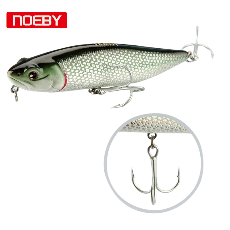 2018 Hot-Noeby Peche 1 pz Pike Lure Esca per la pesca 115mm 25.5g Top Water Fishing Wobbler galleggiante Jerkbait